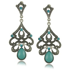 Exquisite Alloy Resin With Rhinestone Ladies' Fashion Earrings