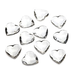 Heart Design Acrylic Diamond Pieces