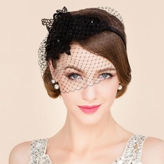 Ladies' Beautiful Summer Net Yarn With Fascinators