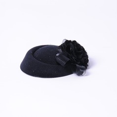 Elegant Silk Flower/Net Fascinators