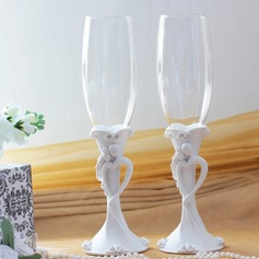 Bride and Groom Design Toasting Flutes