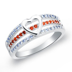 Eternal Love Copper/Zircon/Platinum Plated Ladies' Rings