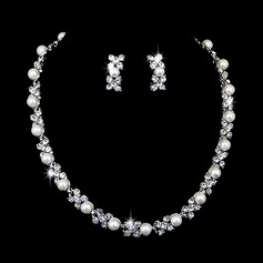 Beautiful Alloy With Pearl/Rhinestone Ladies' Jewelry Sets (011027002)