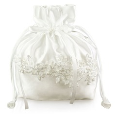 Unique Satin With Imitation Pearl/Lace Bridal Purse