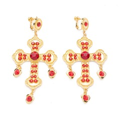 Baroque Style Alloy/Rhinestones Ladies' Earrings