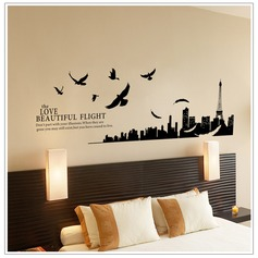 The love beautiful flight PVC Wall Stickers