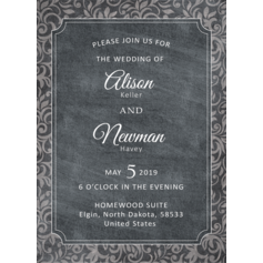 Vintage Style/Rustic Style Flat Card Invitation Cards