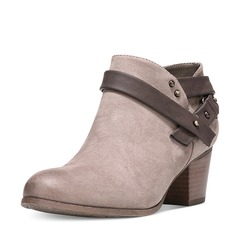 Women's Leatherette Flat Heel Boots Ankle Boots shoes