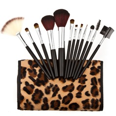 Europe Fashion Leopard Makeup Brushes (12 Pcs)