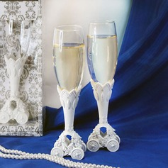 Fairytale Coach Wedding Toasting Flutes