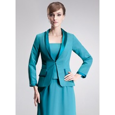 Long Sleeve Chiffon Charmeuse Special Occasion Wrap