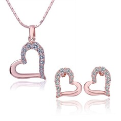 Elegant Silver Plated Ladies' Jewelry Sets