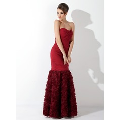 Trumpet/Mermaid Sweetheart Floor-Length Chiffon Evening Dress With Ruffle