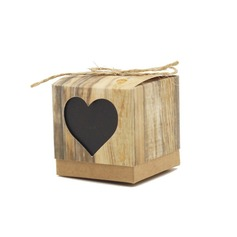 Heart style Cubic Favor Boxes (Set of 12)