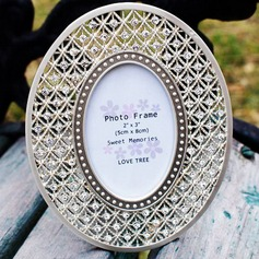 Amazing Oval Chrome Photo Frames With Rhinestone