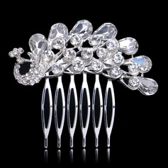 Peacock Shaped Rhinestone/Alloy Combs & Barrettes