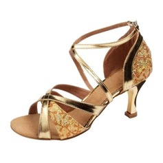 Women's Leatherette Heels Sandals Latin Ballroom Dance Shoes