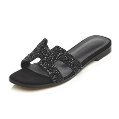Women's Real Leather Flat Heel Sandals Slippers shoes