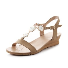 Real Leather Wedge Heel Sandals Slingbacks shoes