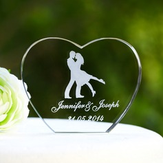 Personalized Heart-shaped Crystal Cake Topper (118042958)