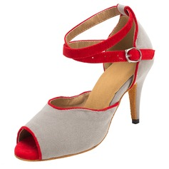 Women's Suede Heels Sandals Latin Dance Shoes