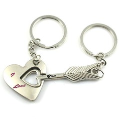Cupid's Arrow Zinc alloy Keychains (set of 4 pairs)