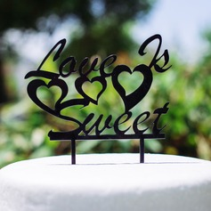 Love Is Sweet Acrylic Wedding Cake Topper