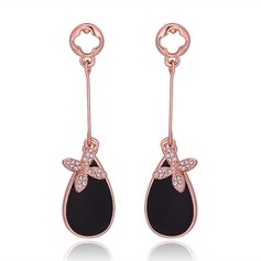 Cool Gold Plated Platinum Plated Rose Gold Plated With Czech Stones Ladies' Fashion Earrings