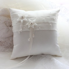 Gorgeous Ring Pillow in Satin/Organza With Faux Pearl