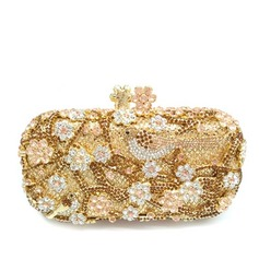 Attractive Crystal/ Rhinestone/Rhinestone/Alloy/Gold Plated Clutches/Luxury Clutches