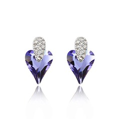 Sweet Heart Alloy/Crystal Ladies' Earrings