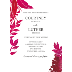 Orchid Garden Wedding Cards