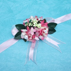 Sweet Free-Form Satin Wrist Corsage