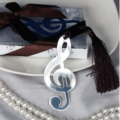 Treble Clef Stainless Steel Bookmarks & Letter Openers With Ribbons/Tassel