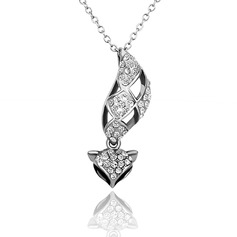 Attractive Alloy/Rhinestones Ladies' Necklaces