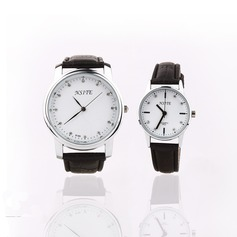 Personalized Leatherette/Alloy Couples Watch With Rhinestone (Set of 2)