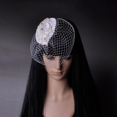 Elegant/Luxurious Net/Czech Stones/Freshwater Pearl Fascinators