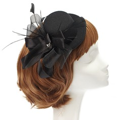 Elegant Artificial Silk/Feather Fascinators With Crystal