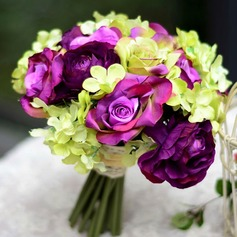 Pretty Round Satin Bridesmaid Bouquets
