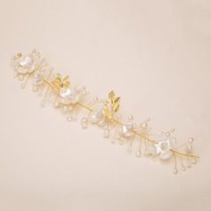Flower Shaped Alloy/Imitation Pearls/Plastic Headbands