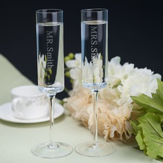 Personalized Simple Design Glass Toasting Flutes (Set Of 2) (126067963)
