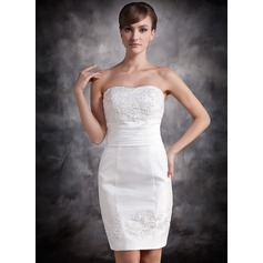 Sheath/Column Sweetheart Short/Mini Taffeta Cocktail Dress With Lace Beading Sequins