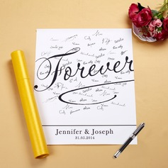 "Personalized ""Forever"" Canvas Signature Platters"