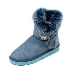 Suede Flat Heel Flats Platform Snow Boots With Fur shoes