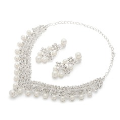 Gorgeous Alloy/Pearl Ladies' Jewelry Sets (011062891)