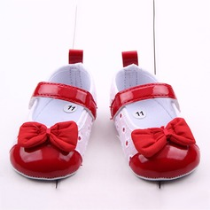 Baby's Cloth Flat Heel Closed Toe Pre Walker With Bowknot