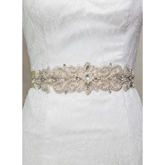 Exquisite Satin Sash With Rhinestones (015080153)