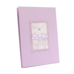 Floral Design Paperboard Bow Guestbook
