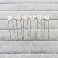 Ladies Lovely Alloy/Imitation Pearls Hairpins (Set of 6)