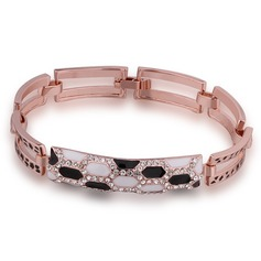 Fashional Czech Stones/Tin Alloy Ladies' Bracelets